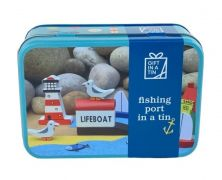 APPLE TO PEARS FISHING PORT IN A TIN