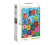 CLEMENTONI PUZZLE 500 CUTE LITTLE OWLS-SQUARE BOX