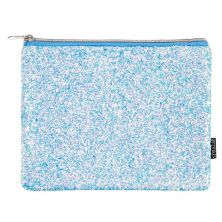 FASHION ANGELS STYLE LAB CHUNKY GLITTER POUCH ICE BLUE