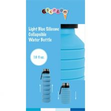 ISCREAM LIGHT BLUE COLLAPSIBLE WATER BOTTLE