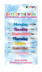ISCREAM DAYS OF THE WEEK HAIR PINS - 7 PINS ON A CARD