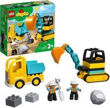 LEGO DUPLO TRUCK & TRACKED EXCAVATOR