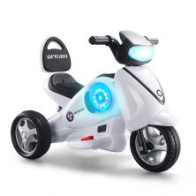 LITTLE ANGEL KIDS RIDE-ON MOTORCYCLE WHITE