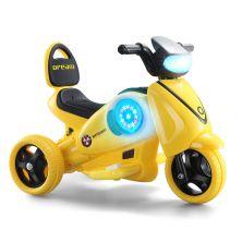 LITTLE ANGEL KIDS RIDE-ON MOTORCYCLE YELLOW