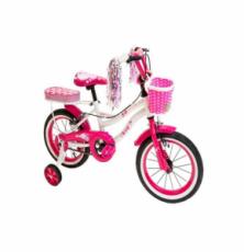 LITTLE ANGEL 18-INCH BICYCLE - LITTLE PRINCESS PINK
