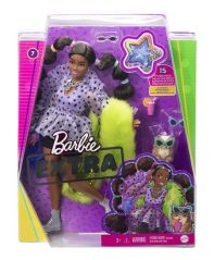 BARBIE EXTRA DOLL-7 IN TOP AND FURRY SHRUG WITH PET