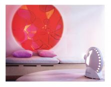 MATHMOS SPACE PROJECTOR WHT UK W/VIO/RED LAVA LAMP