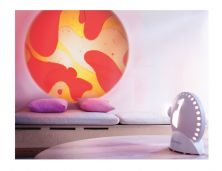 MATHMOS SPACE PROJECTOR WHT UK W/YEL/RED LAVA LAMP