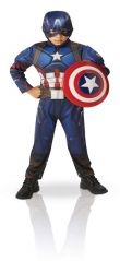 RUBIES COSTUME CAPTAIN AMERICA DELUXE (LARGE)