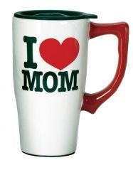SPOONTIQUES I LOVE MOM TRAVEL MUG