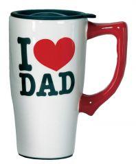 SPOONTIQUES I LOVE DAD TRAVEL MUG