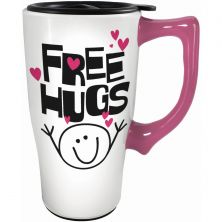 SPOONTIQUES FREE HUGS TRAVEL MUG