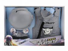 TOI-TOYS COSTUME FIGHTER PILOT GREY DRESS KIT