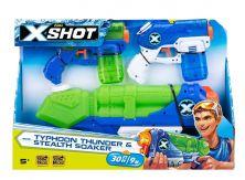 ZURU X-SHOT WATER WARFARE TYPHOON THUNDER & STEALTH SOAKER