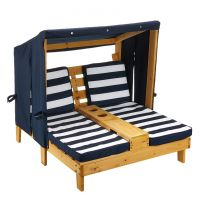 KIDKRAFT LOUNGE CHAIR DOUBLE CHAISE WITH CUP HOLDERS