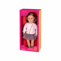 OUR GENERATION DOLL VIENNA WITH PINK LEATHER JACKET