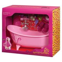 OUR GENERATION PINK BATH TUB & ACCESSORIES